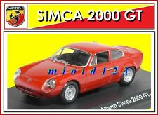 ABARTH COLLECTION : 1/43 - Abarth Simca 2000 GT - 1963 - Die-cast