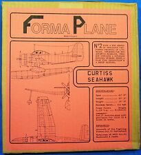 RARE FORMAPLANE CURTISS SEAHAWK VACUUM FORM MODEL AIRPLANE KIT