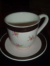 HALLMARK  COFFEE/SOUP MUG & SAUCER   SOFT PINK & CHOCOLATE  GREAT MOTHER'S DAY