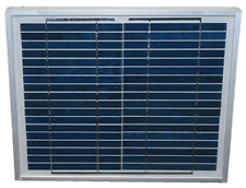 10 Watt Solar Panel for Solar Fence or Dual Chargers 5 Yr Warranty w Cable