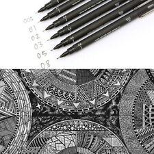 6 Pcs Uni Ball Pin Drawing Pen Fine Line 005 01 02 03 05 08 Needle Archival Pen Other