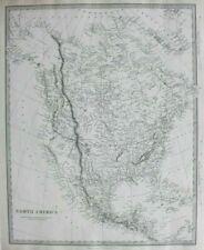 NORTH AMERICA, USA, INDEPENDENT TEXAS, MEXICO, original antique map SDUK, 1844