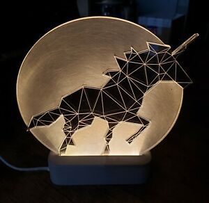 Decorative Unicorn Lamp Full Moon Edition Lucite LED Art Sturlesi Design Israel