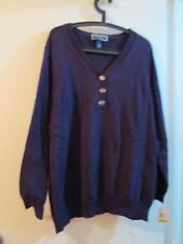 New Karen Scott Royal Purple Violet Sweater Quality Cotton Plus 3X Casual /Chic