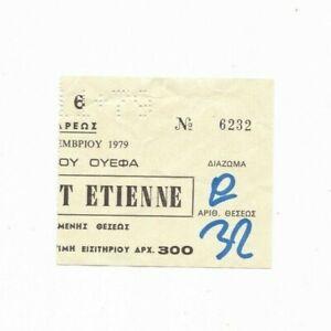 1979/80 UEFA CUP Aris Thessaloniki v Saint-Étienne (RARE Original Match Ticket)