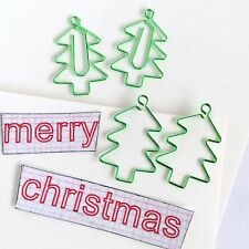Paper clips Christmas Tree Planner Accessories Green Paperclip