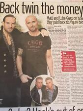 MATT & LUKE GOSS interview Set BROS UK 1 DAY ISSUE OCTOBER 2016