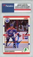 Adam Graves Edmonton Oilers Autographed 1990-91 Score #163 Rookie Card