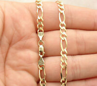 4.5mm Mens Solid Royal Figaro Link Chain Bracelet Real 10K Yellow Gold ALL SIZES