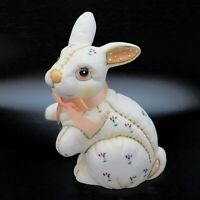 Lefton Rabbit Figurine Porcelain Floral Vintage Easter Bunny