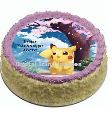 Pokemon Pikachu Cake topper edible image icing Birthday Party REAL FONDANT