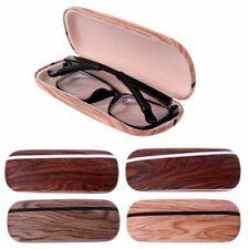 Elegant Eye Glasses Case Box Hard Wood Grain Sunglasses Eyeglass Protector Bag