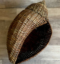 Sea Shell Wicker Woven Basket Beach House