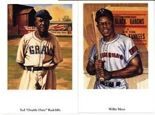 Negro League Fine Art Postcard Set Mays Gibson Irvin