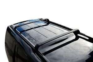 Black OEM style Roof Rail & Cross Bar for Land Rover Discovery 4 09-16
