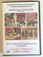 Republic Pictures Western Serial Cliffhanger Movies Collection Vol 3 - 5 DVD