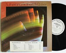 The Sutherland Brothers & Quiver White Label DJ Only Columbia LP 1976