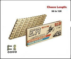 D.I.D DID 520 ERV3 Xring Sealed Motorcycle Drive Chain Gold w/ Rivet Master Link