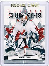 RC~BRADEN HOLTBY 2007-08 ITG O Canada ROOKIE CARD~07~WASHINGTON CAPITALS~WSH~NHL