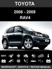 Toyota Rav4 2006-2008 workshop repair service manual cd