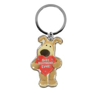 Boofle Best Boyfriend Ever Metallic Keyring Lovely Gift Idea Christmas Birthday