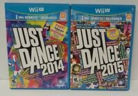 Nintendo Wii U 2 Game Lot Just Dance 2014 & 2015 - 1 to 4 players can play