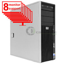 8 Monitor Trading PC HP Z400 Computer/ Workstation W3520 2.66Ghz 8GB 1TB Win10