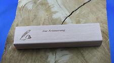 braun mit Wunschgravur Schreibset Malente aus Ahornholz mit Holz-Etui