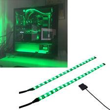 2x30CM green modified PC box light LED kit to illuminate the chassis