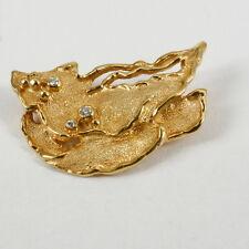 Brosche im finnischem Stil 585 Gold mit Brillant 0,06ct.w.si
