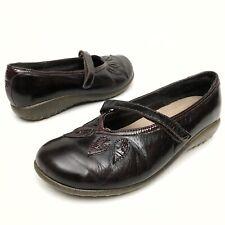 @ NAOT Women's Leather Mary Jane Flats Shoes Sz 7 Eu38 Reddish Brown Comfort EUC