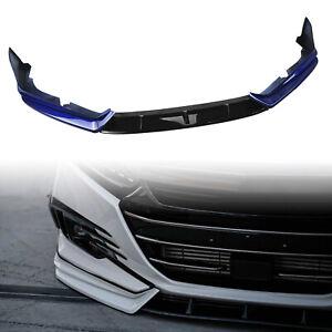 For 2021 Honda Accord YOFER  Car Front Spoiler + Front Side Cover Trim Blue GA