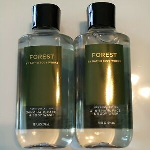 Bath & Body Works Men's Collection Forest 3-N-1 Hair Face Body Wash 10 OZ Lot 2