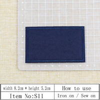 8Pcs 82x50mm Navy blue square blank Patch Iron/Sew-On Applique DIY Clothes Badge