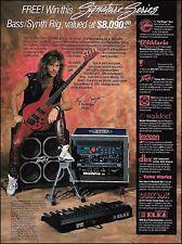 Kip Winger Signature Jackson Bass + Peavey 410T Guitar Amp 8 x 11 Contest ad
