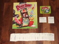 Who Framed Roger Rabbit 1988 Panini, Empty Album; Complete Loose Sticker Set &..