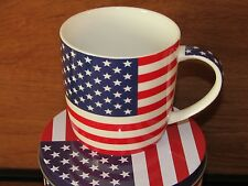 Patriotic ~ American Flag ~ Coffee/ Tea/ Hot Chocolate Mug & Tin ~ NEW! NICE!