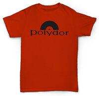 POLYDOR RECORDS T SHIRT VINTAGE COOL BREAKS, RARE VINYL RECORDS, RECORD LABEL LP