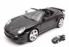 PORSCHE 911 TURBO CABRIO 2007 BLACK 1:18 AUTO STRADALI MOTORMAX SCALA