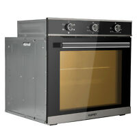 """24"""" Tempered Glass Electric Built-In Single Wall Oven Push Buttons Control 220V"""