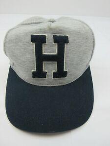 Tommy Hilfiger Mens Hat Embroidered Snap Close Back Grey Navy