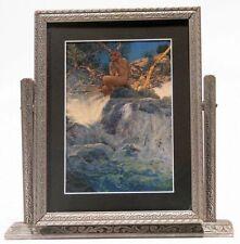 Vintage Maxfield Parrish Print The Errant Pan Nude Wood Nymph Flutes Tilt Frame