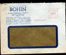 """PARIS (I°) TREFILERIE pour MERCERIE / METALLURGIE """"Ets BOHIN"""" Voyagée en 1961"""