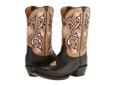 Lucchese M4919 Mid Shaft Flower Brown Boots 6