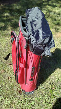 Nike Golf Bag Lightweight Stand 5-Way Divided Dual Carry Straps Red & Black