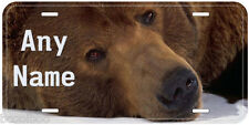 Brown Bear Any Name Personalized Novelty Car Auto License Plate