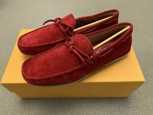 Tod's Men's Laccetto City Gommino Loafer Shoes, UK8, Red, New With Box RRP £340