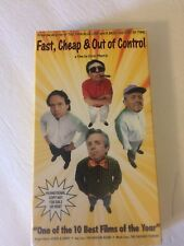 Fast, Cheap & Out of Control VHS Cassette Screening Copy Pre-Owned