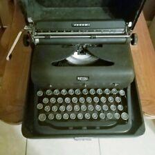 VTG 1940s Royal Arrow Portable Typewriter In Case