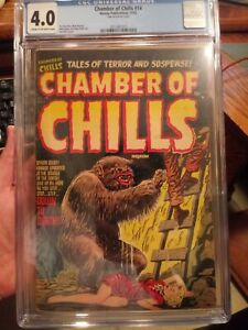 Chamber of Chills #14 CGC 4.0 CR/OW Scarce Pre-Code Horror Monster Cover!!